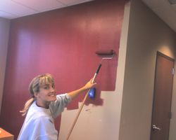 Wife - Painting My Office