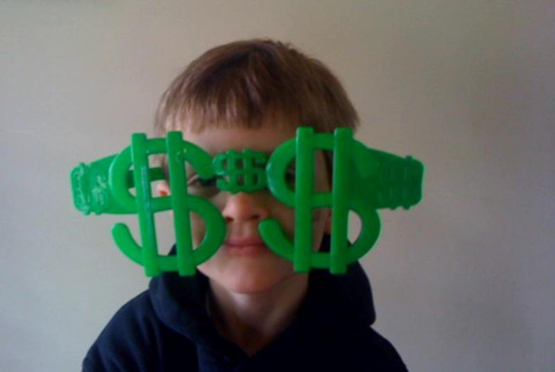 People - Ryan in Money Glasses